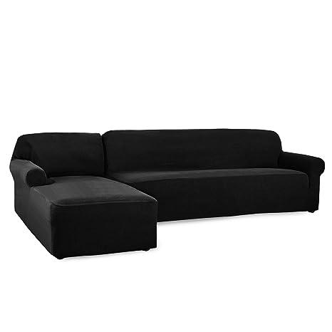 CHUN YI Funda de sofá Forma de L para sofá de Jacquard de ...