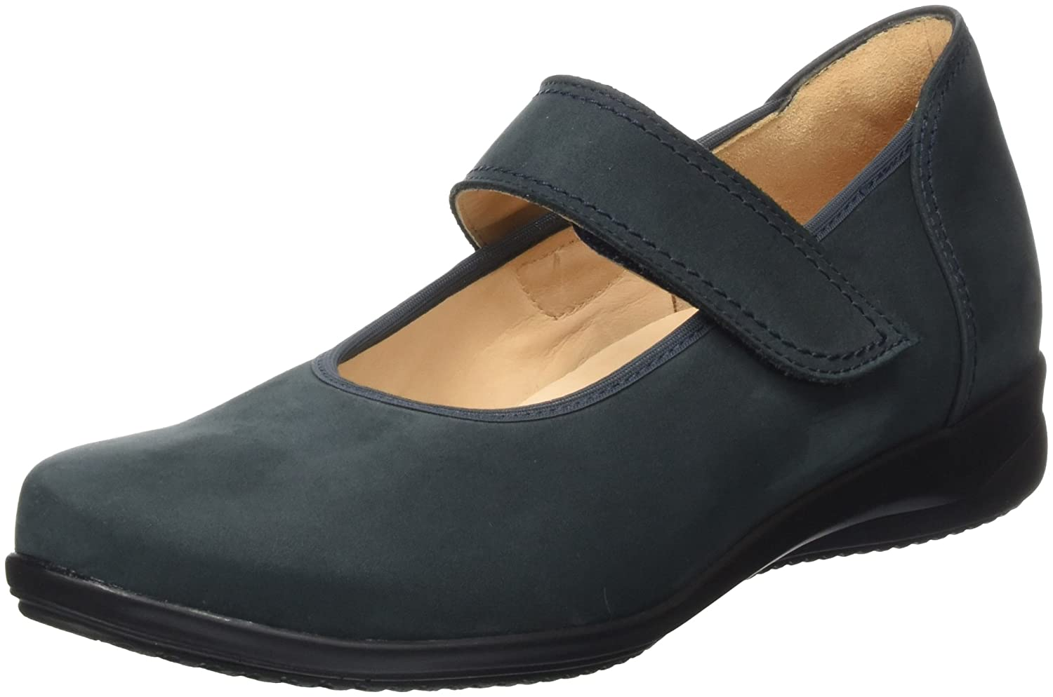 Womens FIONA, Weite F Closed ballerinas Black Size: 3.5 Ganter