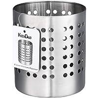 Kitchen Utensil Holder, KSENDALO Stainless Silverware Holder, Kitchen Utensil Drying Cylinder,Utility for Kitchen/Home…