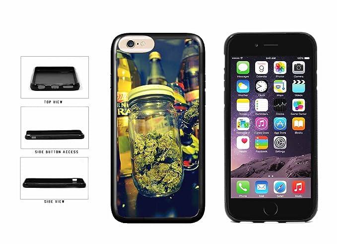 uk availability 11c71 abadd Amazon.com: Mason Jar of Weed TPU RUBBER SILICONE Phone Case Back ...