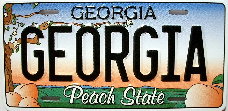 Georgia State License Plate Novelty Fridge Magnet
