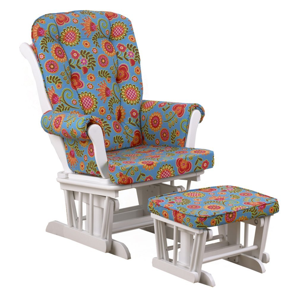 Cotton Tale Designs Gypsy Large Floral Glider with Ottoman