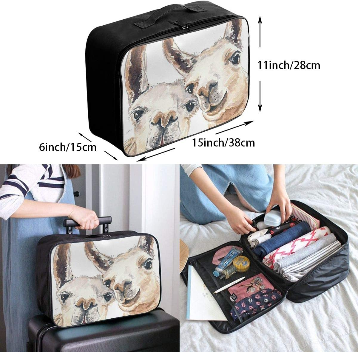 Llama Brothers Travel Carry-on Luggage Weekender Bag Overnight Tote Flight Duffel In Trolley Handle
