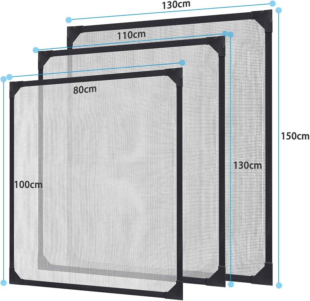 Sekey /Écran Magn/étique Personnalis/é Assemblage Sans Outils Cadre Blanc Kit de Moustiquaire Avec Bandes Magn/étiques pour Windows Jusqu/à 80x100 cm
