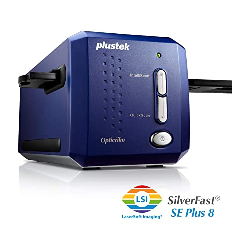 Plustek OpticFilm 8100-35mm Negative Film/Slide Scanner with 7200 DPI and  48-bit Output  Bundle Silverfast SE Plus 8 8, Support Mac and Windows