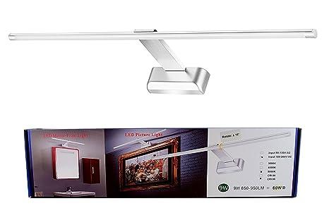 FVTLED 9W LED Aluminium Spiegelleuchte Bilderleuchte Wandleuchte 48LED  SMD2835 5000K Kaltes Weiß Beleuchtung