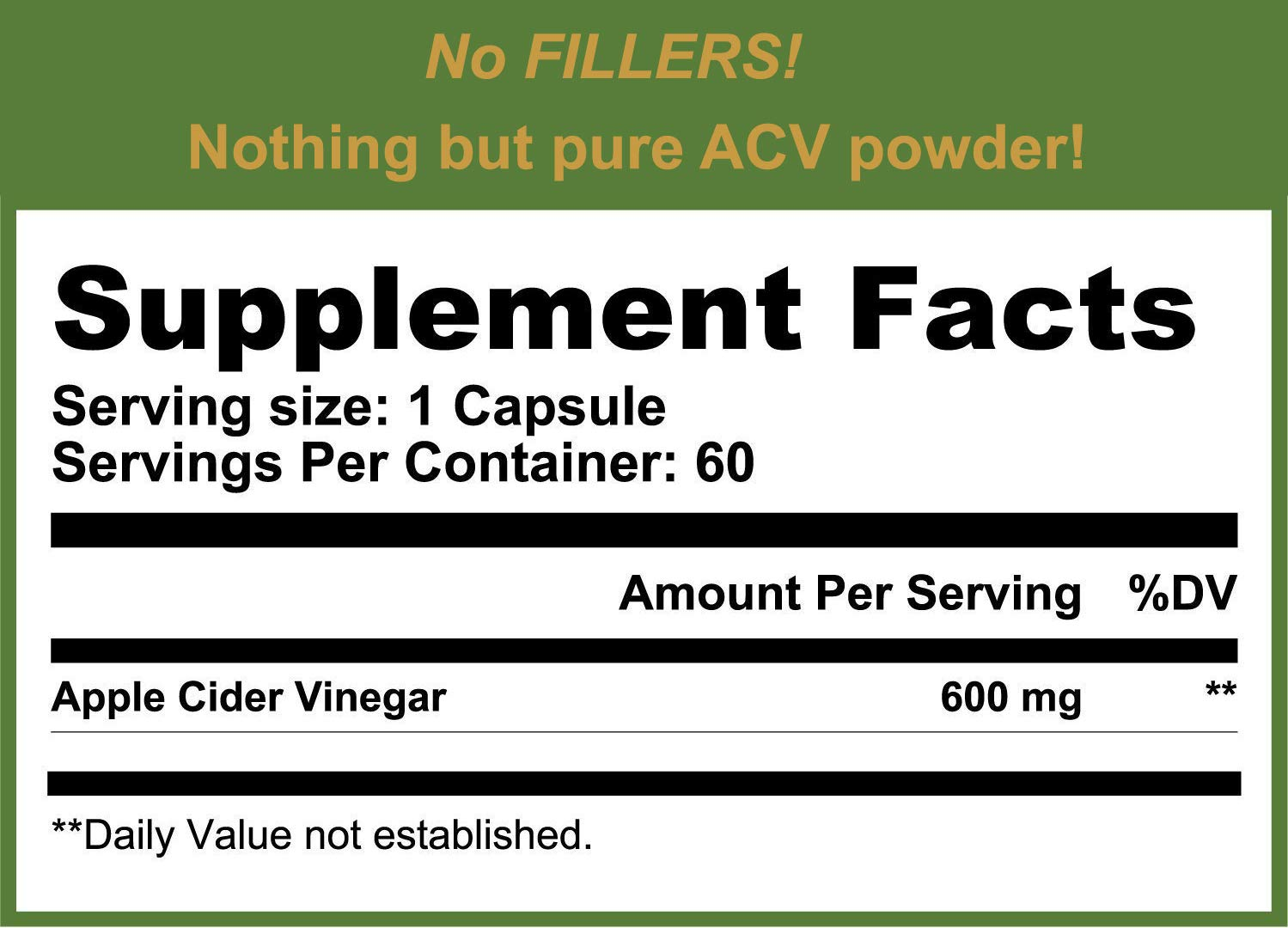Amazon.com: 600 mg Apple Cider Vinegar Pills - 60 Cápsulas ...