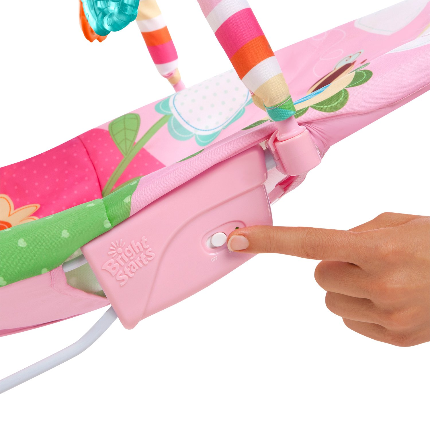 Bright Starts Bouncer Pretty In Pink Sweet Bees And Buggies Full Comfort Ampamp Harmony Portable Swing Blossomy Blooms Amazoncom Vibrating