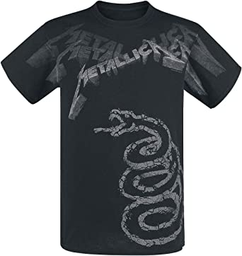 Metallica Black Album Faded Hombre Camiseta Negro, [Effekte/Besonderheiten] + Regular: Amazon.es: Ropa y accesorios