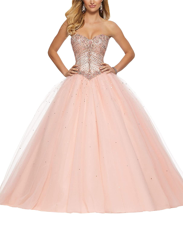 Fannydress Beading Crystal Sequin Sweet 16 Dresses For Women