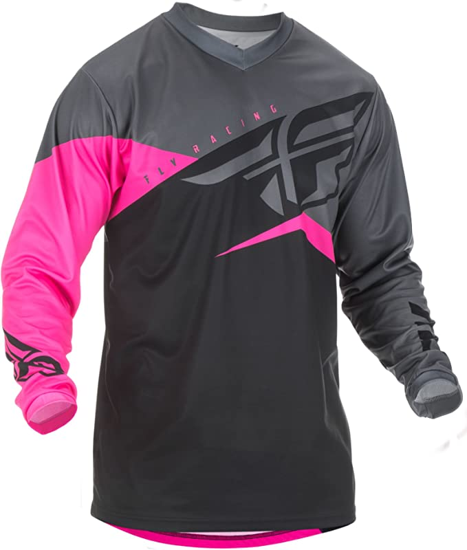 Fly Racing 2019 F-16 Jersey and Pants Combo Neon Pink//Black//Gray Small,28