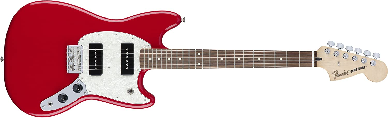 Fender 6 String Mustang 90, Rosewood Fingerboard, Torino Red.
