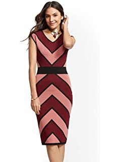 312314a1454 New York & Co. Women's Bow-Accent Bell - Sleeve Sheath Dress at ...