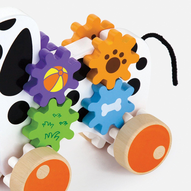 Viga Toys Ziehtier Hund mit Zahnradspiel