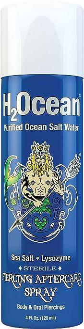 Amazoncom H2ocean Piercing Aftercare Spray 4 Fluid Ounce Beauty