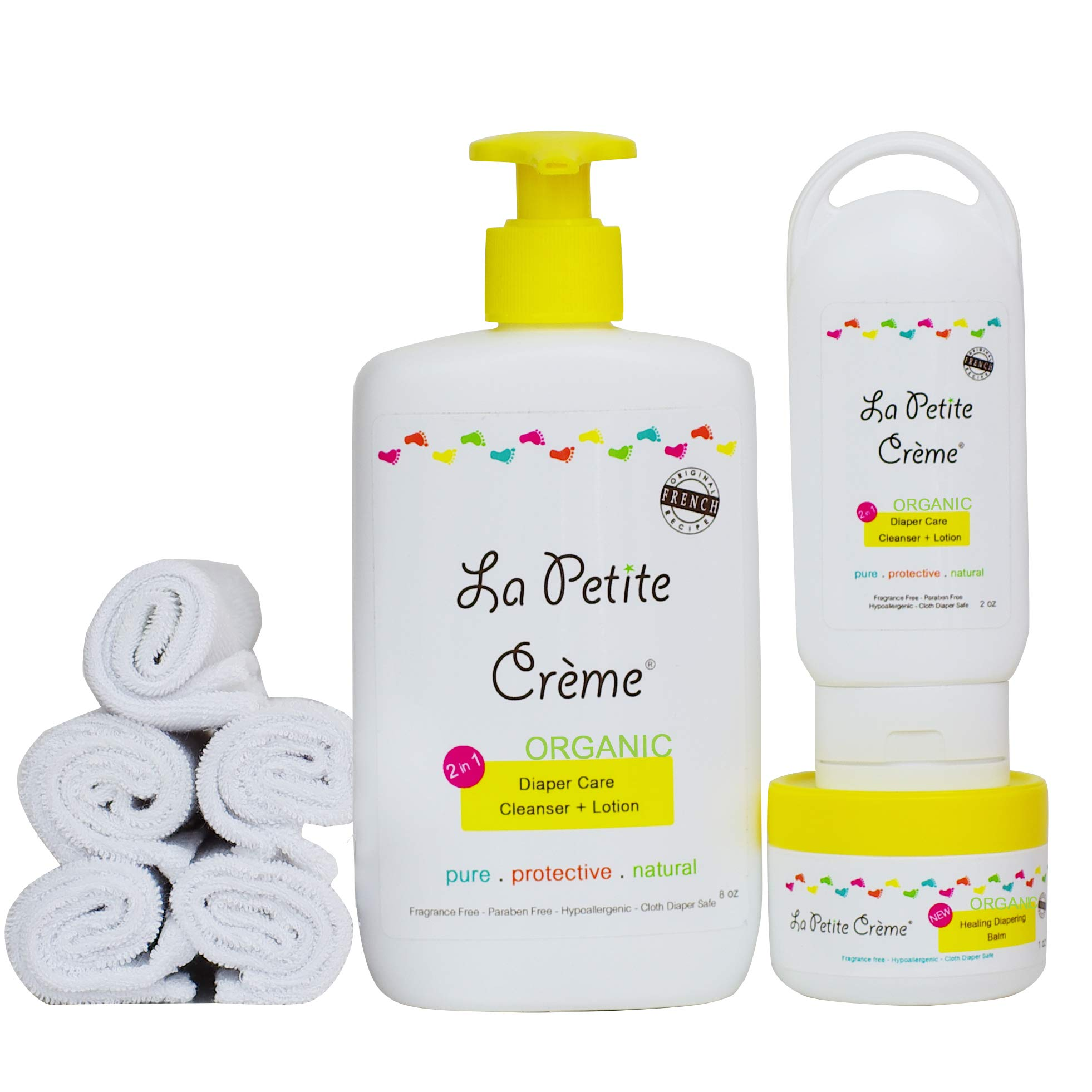 La Petite Creme - Organic French Diapering (Baby Shower Bundle (Reusable)) - USDA Certified Organic by La Petite Creme