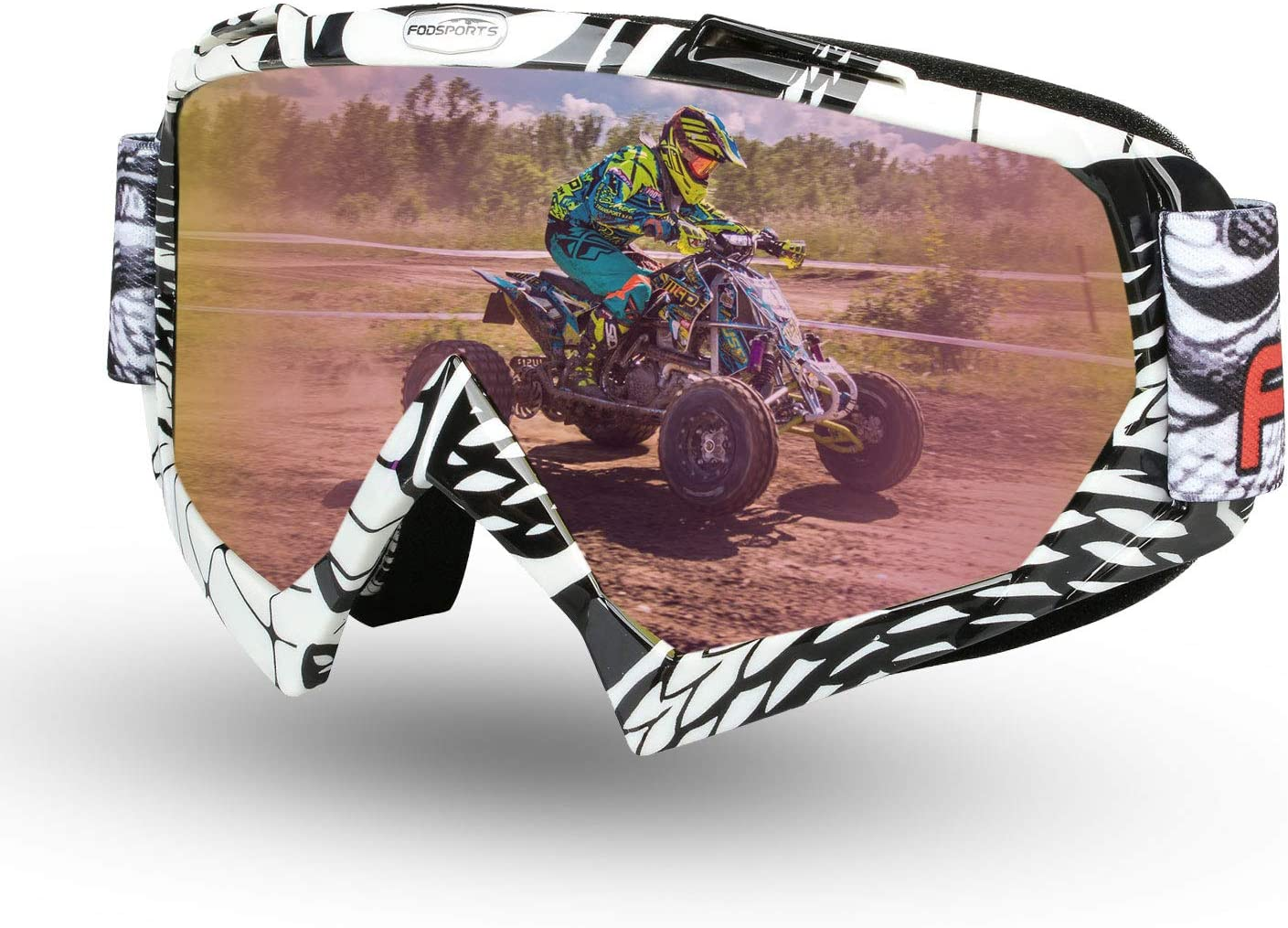 Fodsport Gafas de Moto Gafas Crossed Gafas Ciclismo Gafas Protección Mascara para Moto Motocross Esqui Deporte Ajustable (Multicolor B): Amazon.es: Coche y moto