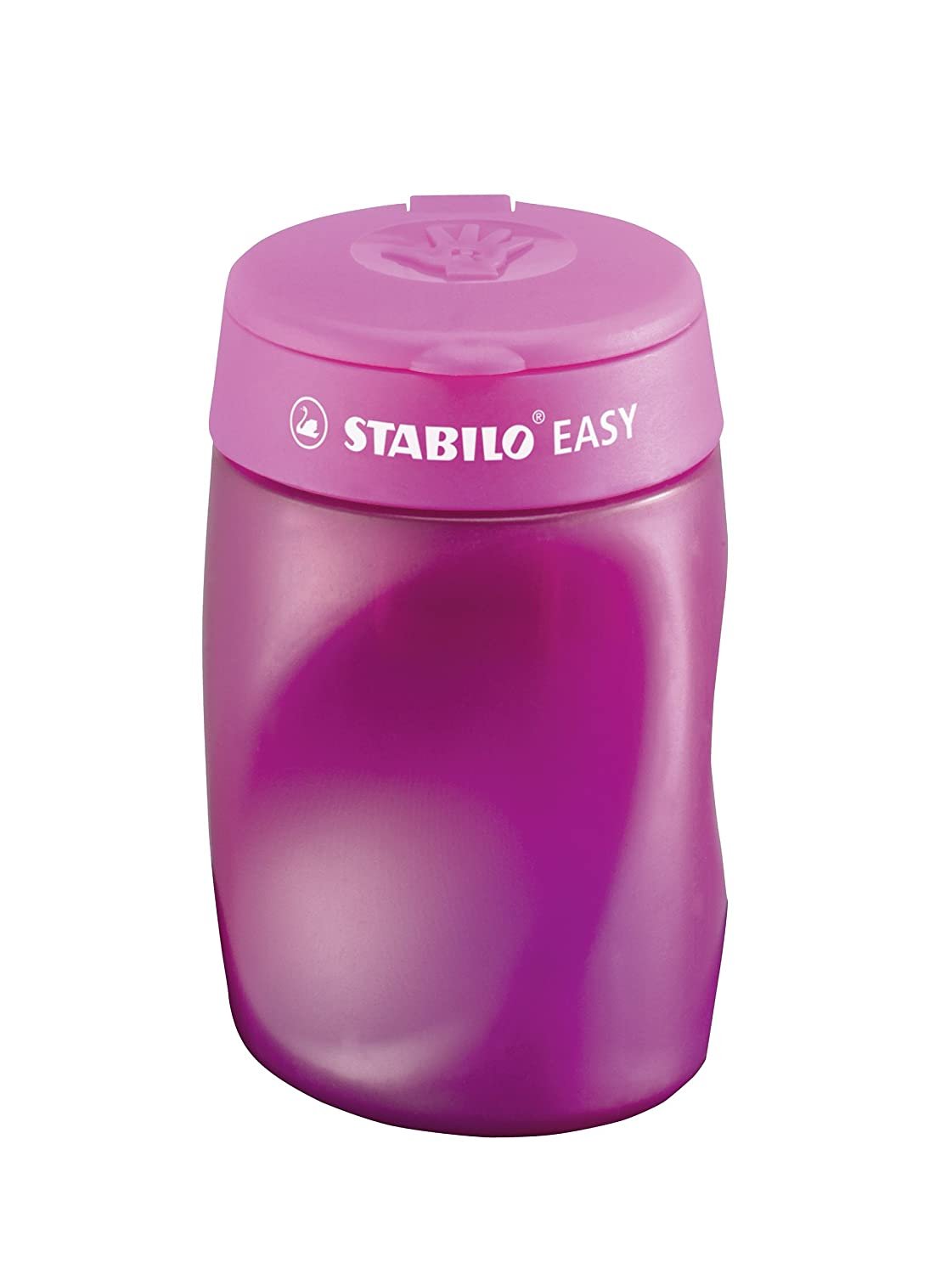 avec r/éservoir Droitier rose Taille crayon ergonomique STABILO EASYsharpener