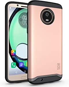 TUDIA Merge Designed for Moto G6 Case, Moto G6 Phone Case, Dual Layer Phone Case for Motorola Moto G6 (Rose Gold)