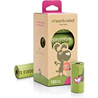 Earth Rated Eco-friendly Dog Poop Bags, 120 Extra Thick and Strong Poop Bags for Dogs, Guaranteed Leak-proof, Lavender…