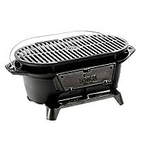 Lodge L410 Pre-Seasoned Sportsman's Charcoal Grill, Black