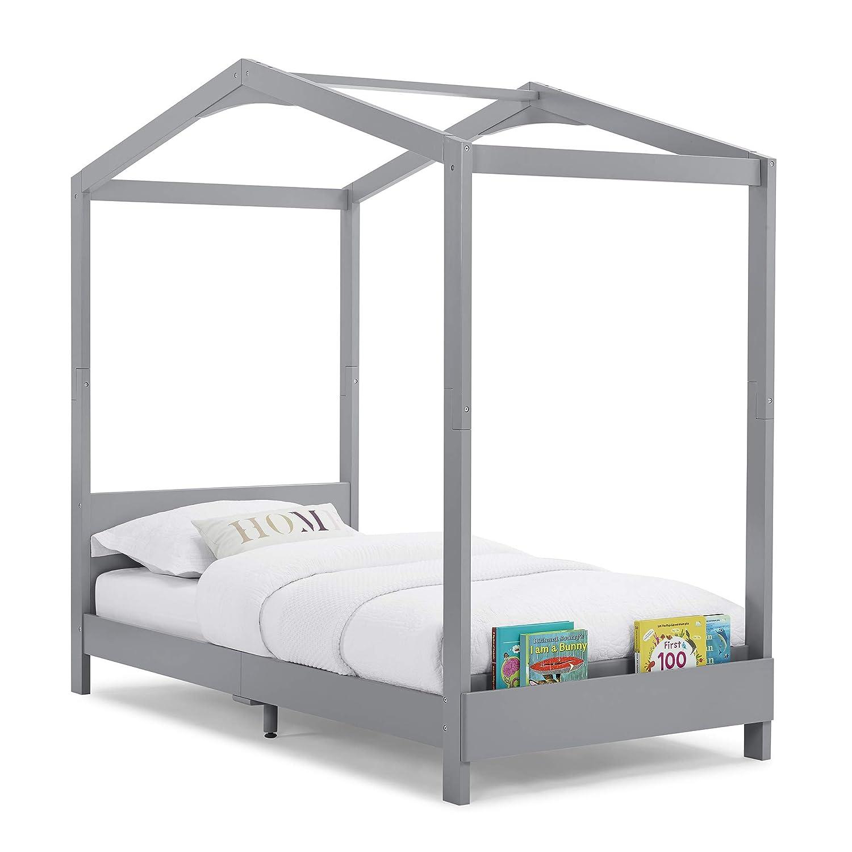 Delta Children Poppy House Twin Bed, Grey