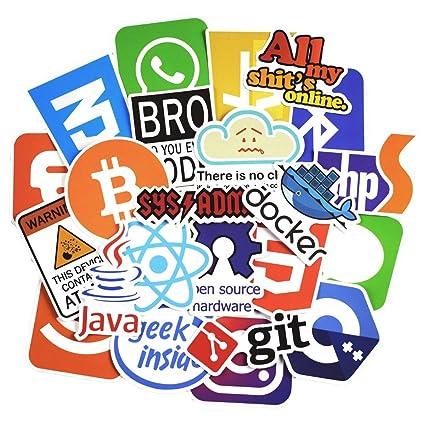 Amazon com: 50 PCS Programming Language APP Cartoon Sticker