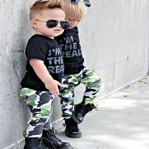 Btruely Herren 🍁Ropa Bebé niño Conjunto, Conjunto de Ropa de Barba Tops + Pantalones de Camuflaje Outfit, 6 Meses -3 años: Amazon.es: Ropa y accesorios