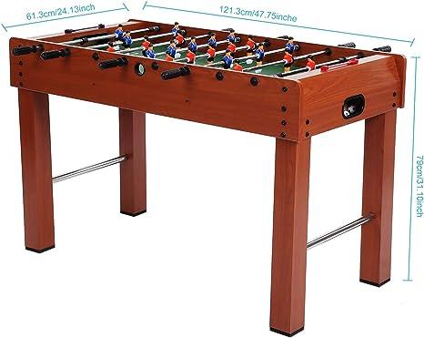 Futbolín fútbol mesa para varios jugadores de competición con 2 ...