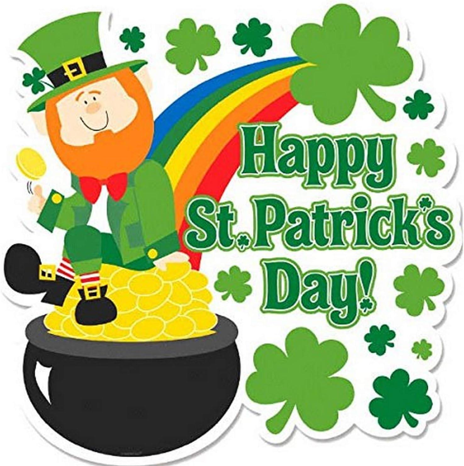 Amazon.com: Amscan St. Patrick's Day Leprechaun And Pot Of Gold ...