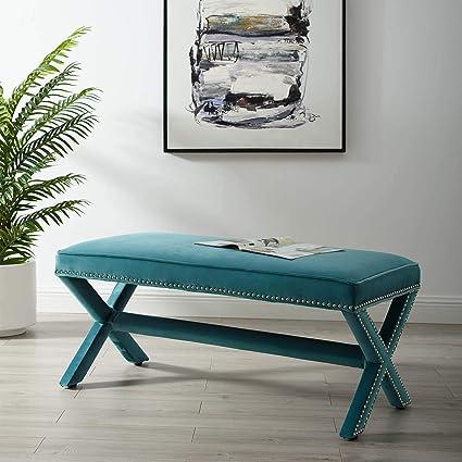 Amazon.com: Modway Rivet EEI-3067-SEA - Banco tapizado de ...