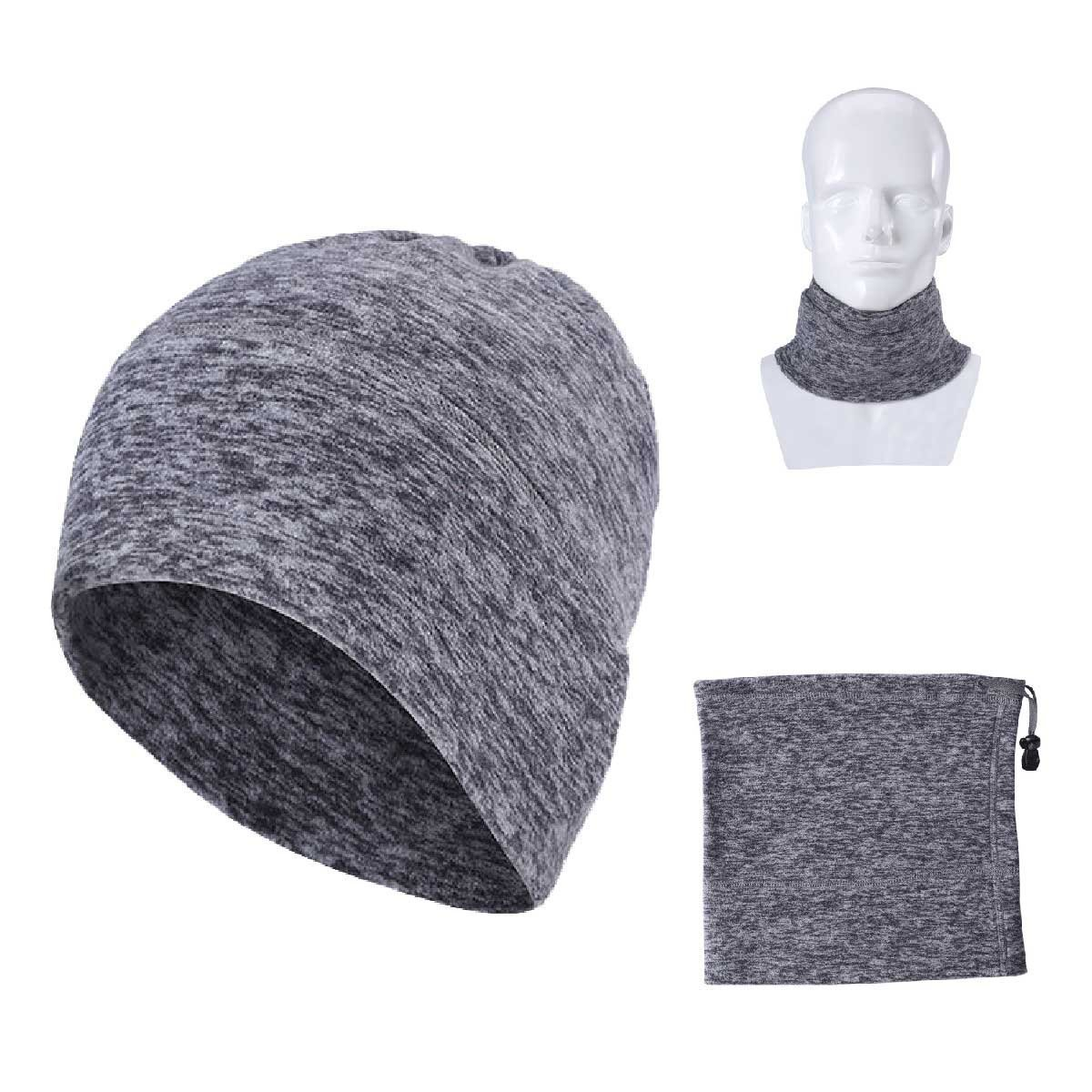 TRIWONDER Neck Warmer, Outdoor Multifunctional Headwear - Magic Scarf, Face Mask, Do Rag, Winter Cap (Grey - 2)