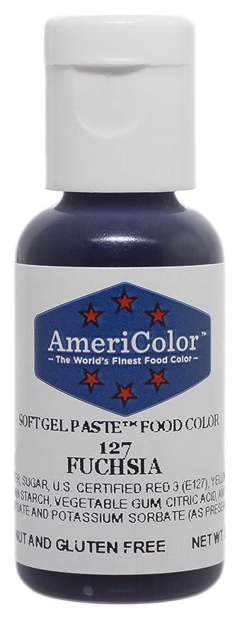 Americolor Soft Gel Paste Food Color, .75-Ounce, Fuchsia Pink