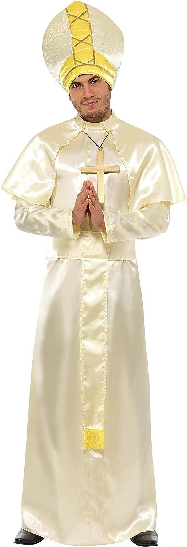 Smiffys Costume da Papa Veste Fascia Cappello Collana e Mantello