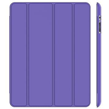 JETech Funda para iPad 4, iPad 3 y iPad 2, Carcasa con Soporte Función, Auto-Sueño/Estela (Púrpura)