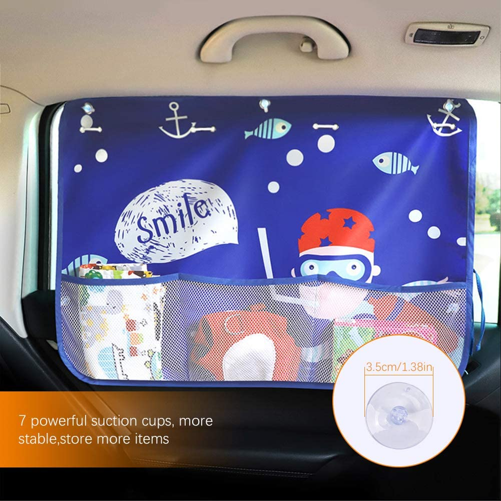 Side Window Shades with UV Rays// Sun// Glare Protection for Kids Pets Adults Fit Most Cars 68.5 x 49cm Car Sun Shades Blinds Covers with Suction Cups /& Mesh Storage Bag ASIV Car Window Shades for Baby 2 Pack