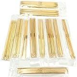 Yansanido 5 Sets of 11 Sizes 5'' (13cm) Double Pointed Carbonized Bamboo Knitting Kits Needles Set (2.0mm-5.0mm) (5…