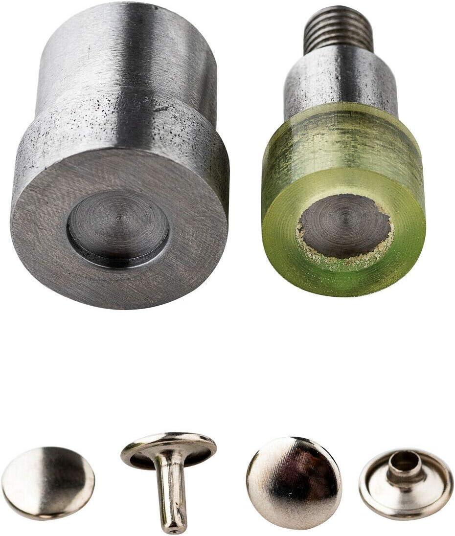 Trimming Shop Green Hand Press Machine for 12mm Double Cap Tubular Rivet Studs Tool Die Set Kit