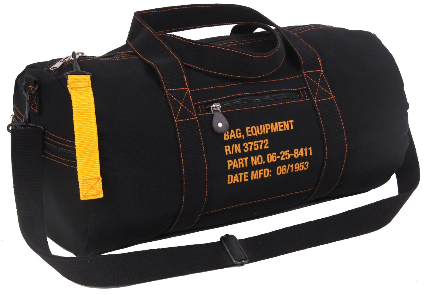 Rothco Canvas Equipment Bag, Black
