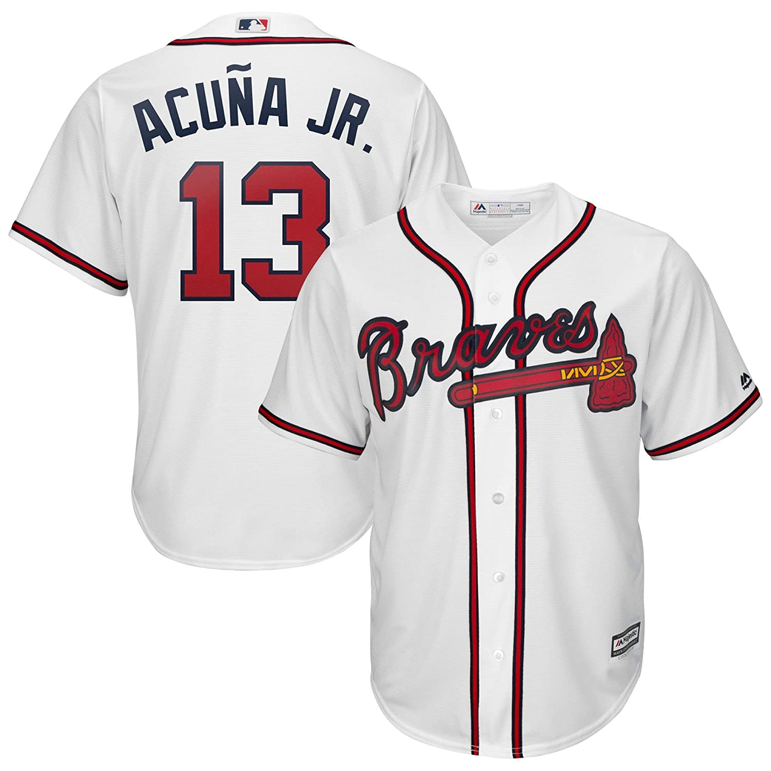 competitive price 8c523 b38ff Outerstuff Youth Kids Atlanta Braves 13 Ronald Acuna Jr 2019 Baseball Jersey