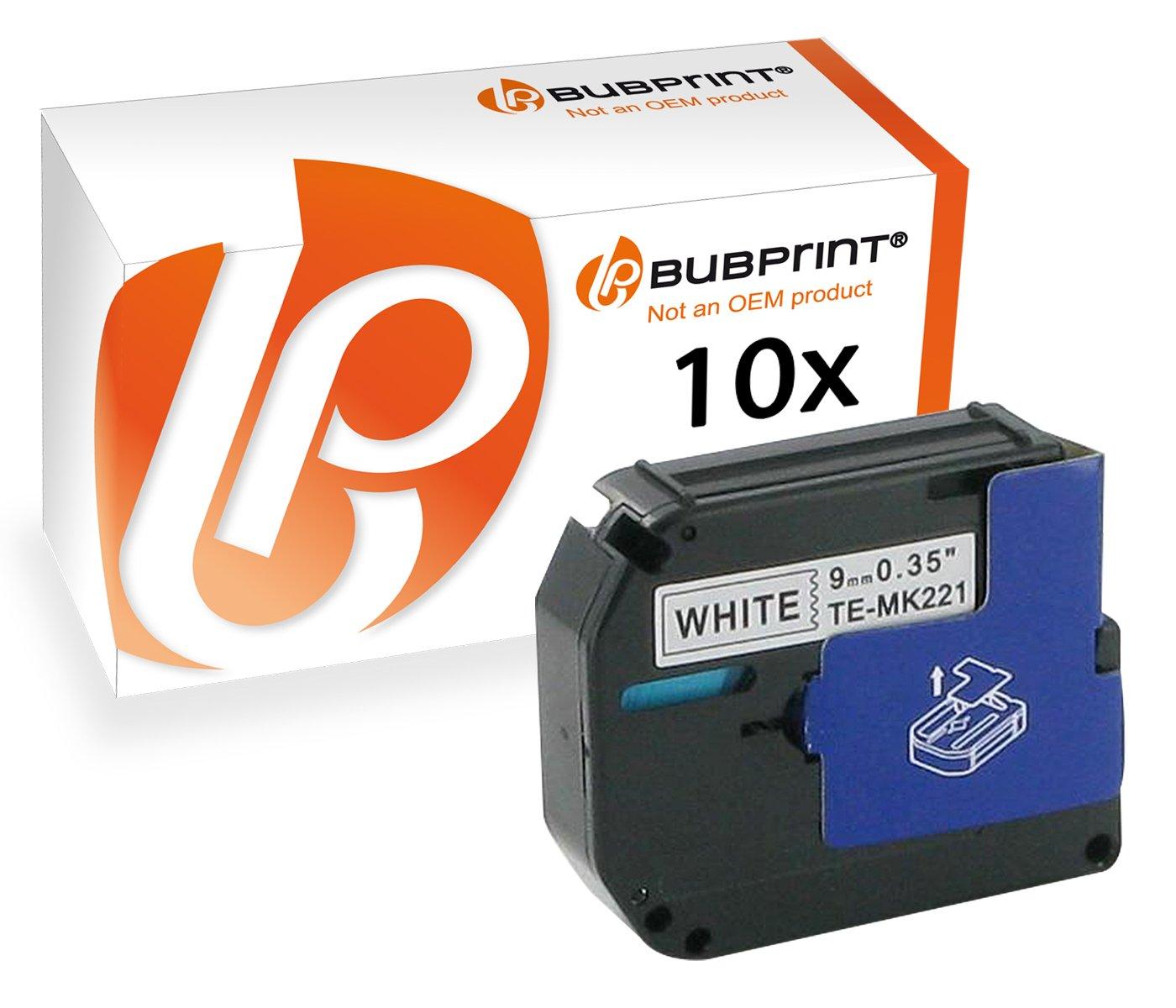 Bubprint 10 Schriftbänder kompatibel für Brother M-K221 M-K221BZ M K221 MK221 MK 221 für P-Touch 110 55 60 65 75 80 85 90 BB4 M95 Schwarz auf Weiß 9mm B0727YGL2L     | Exquisite (mittlere) Verarbeitung