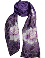 Hand-Painted 100% Silk Lightweight and Breathable Scarf - Roses on Various Background Colours