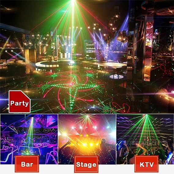 Luces de fiesta DJ discoteca, luz estroboscópica activada por ...