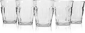 Clear Plastic Tumbler Cups (5-Piece Set) Unbreakable Tritan BPA Free Glasses | Heat-Resistant, Shatterproof, Reusable Drinkware | Beer, Coffee, Juice, Water | Home or Outdoor Party Use 9.4oz