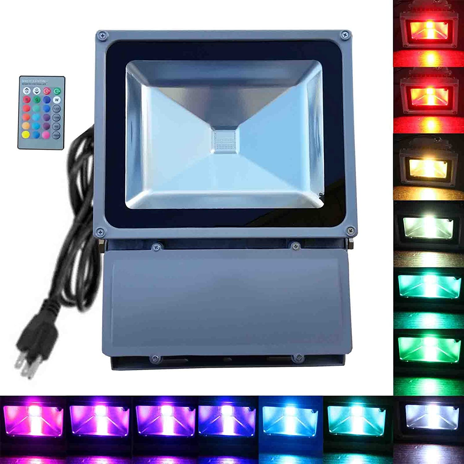 100w rgb flood light tdltek 100w rgb color changing led flood 100w rgb flood light tdltek 100w rgb color changing led flood light spotlightlandscape lampoutdoor security light with memory function and remote workwithnaturefo