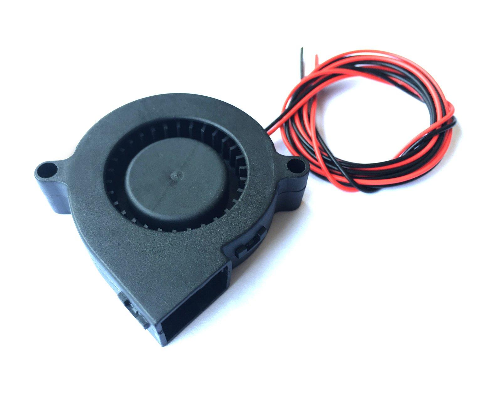 HICTOP 3D Printer Turbo Fan Blower Fan 0.9M Wiring 12V DC 50mm x 15mm Cooling Fan 3D Printer Parts (2 Packs)