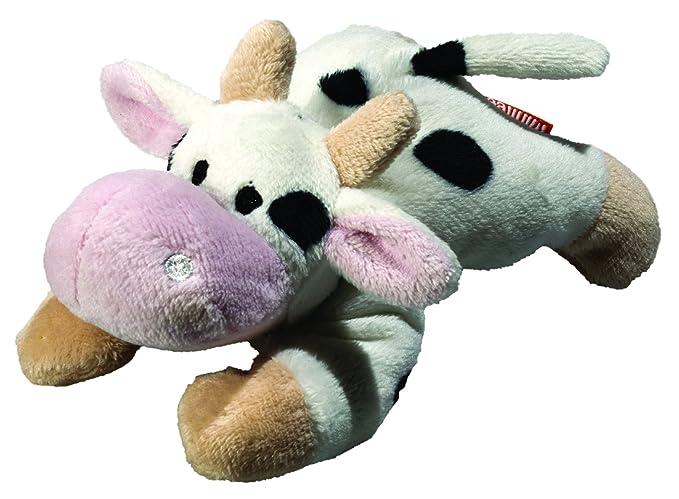 MBW – peluche vaca limpiador pantalla – 11 cm – 60606 Blanc tacheté 11