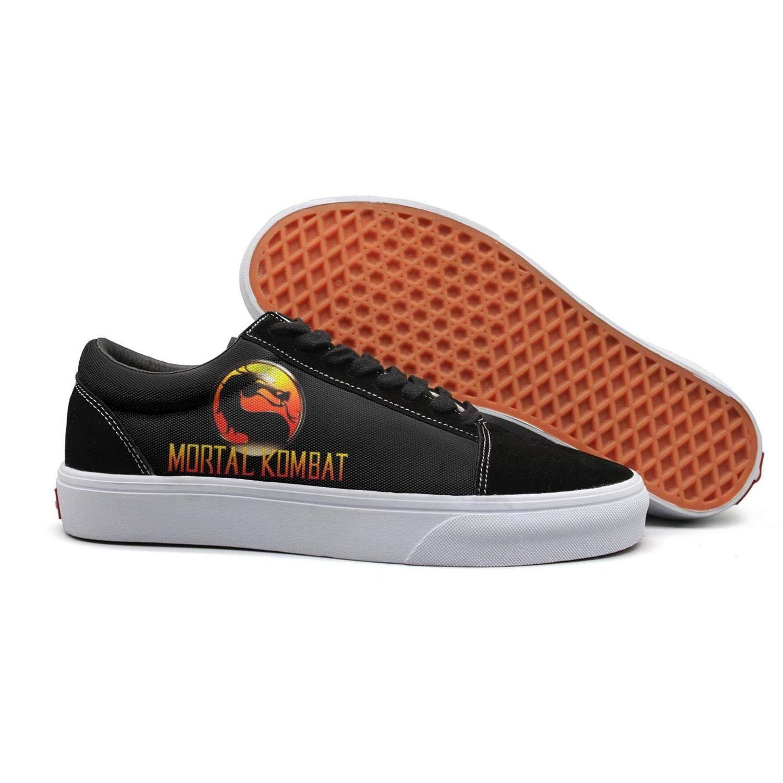 Mortal Kombat Logo2 10 B(M) US Slimerland MortalKombatDragon Women's Casual Sneakers Footwear Classic Spring Vegan