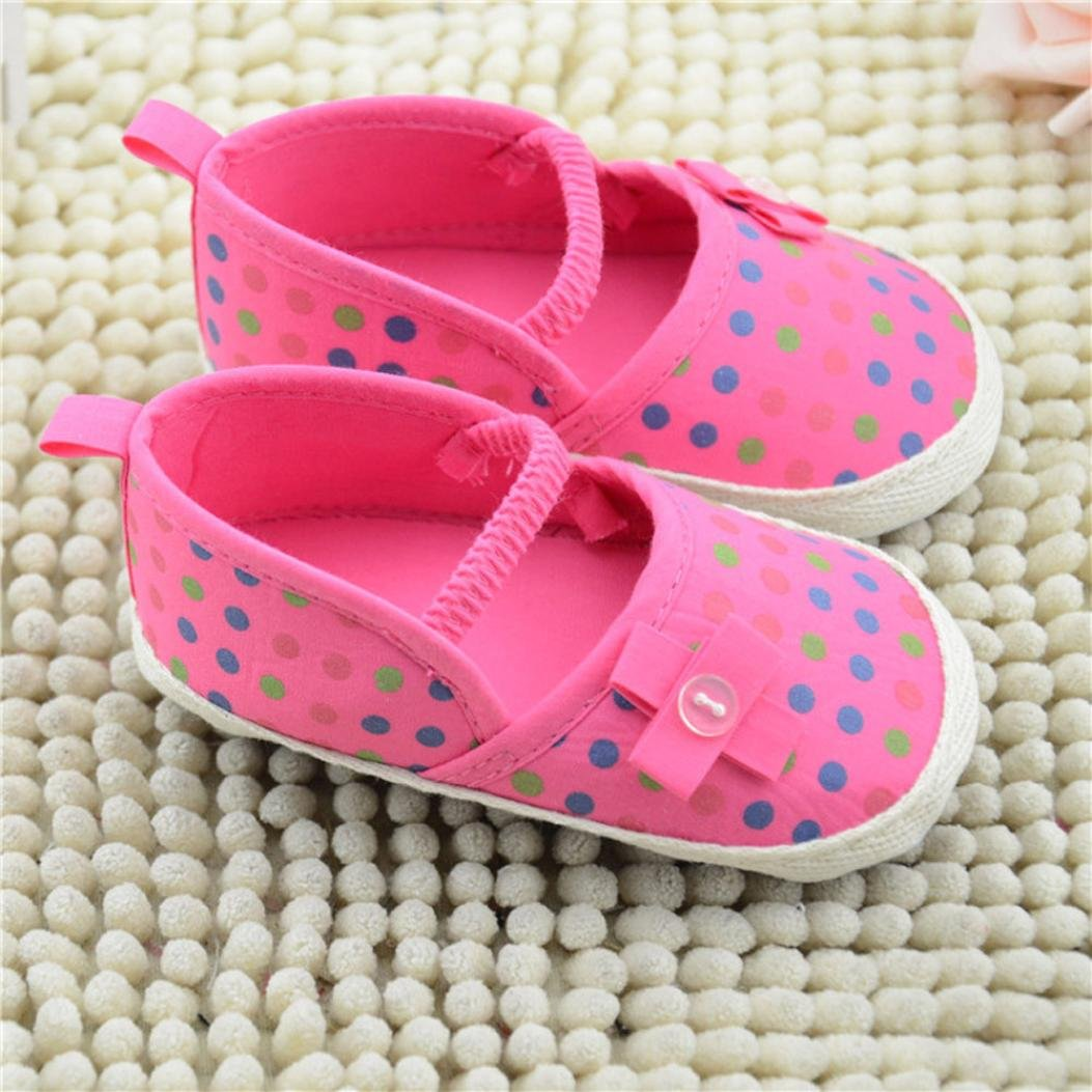 Voberry Toddler Girls canvas Slip on Loafer Baby Anti-Slip Soft Sole Flats Shoes
