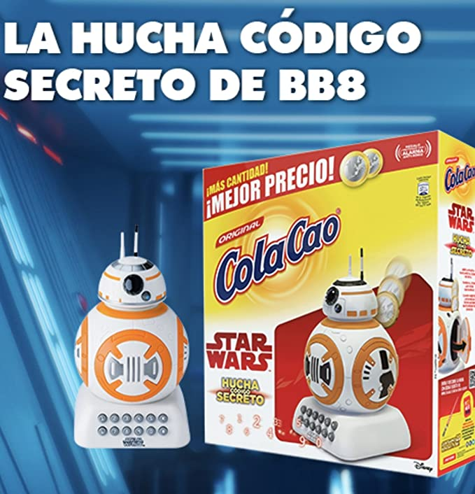 Cola Cao 3kg y Hucha Star Wars codigo secreto